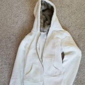 zip up hoodie with faux fur
